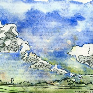 Watercolor study Clarksville