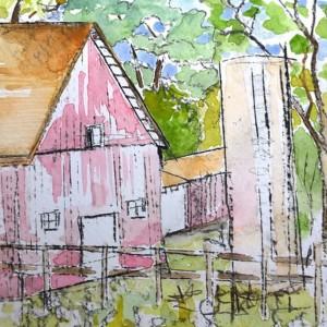 Watercolor study La Porte